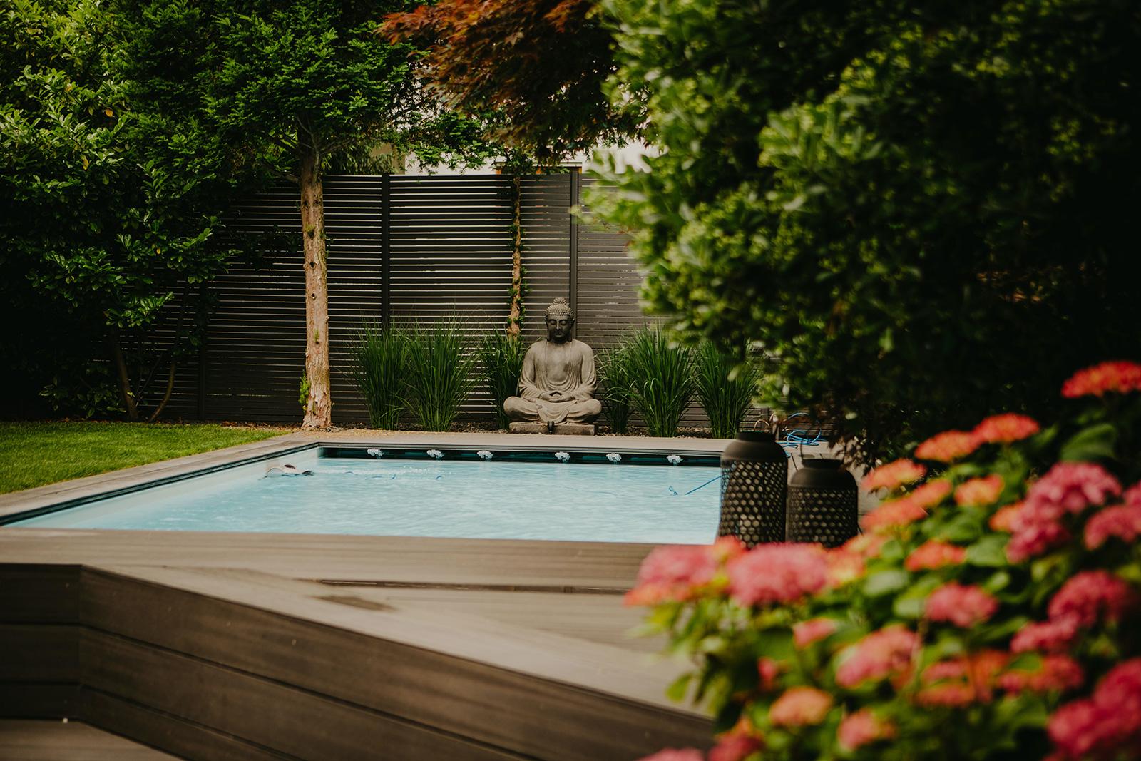 Projektbeispiel Garten mit Pool in Viernheim