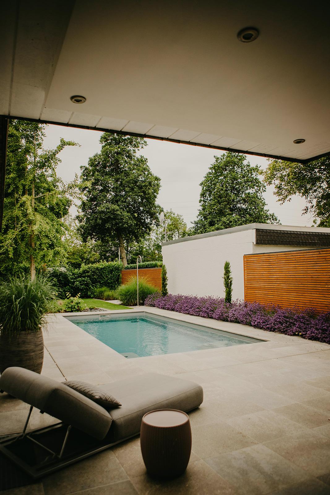 Projektbeispiel Garten mit Pool in Heidelberg